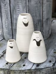 funny housewarming gifts - Set of 3 derby bud vases