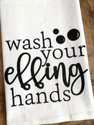 funny housewarming gifts - Wash Your Effing Hands