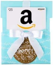 housewarming gifts for men - Amazon.com Gift Card in a Welcome Home Reveal
