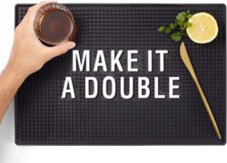 housewarming gifts for men - Bar Mat for Home Bar Decorations