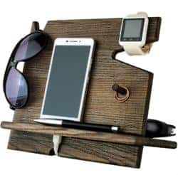 housewarming gifts for men - Cell Phone Stand Watch Holder
