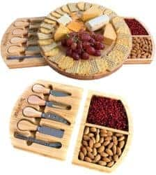 housewarming gifts for men - Cheese Board w Cutlery Set