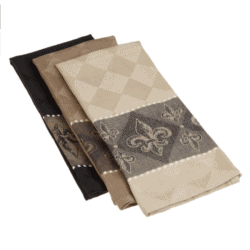 housewarming gifts for men - DII Assorted Fleur De Lis Jacquard Dishtowels