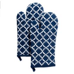 housewarming gifts for men - DII Nautical Blue Lattice Oven Mitt