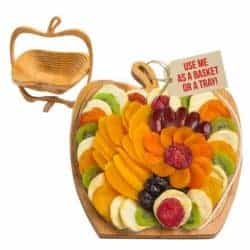 housewarming gifts for men - Dried Fruit Gift Basket Tray
