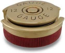 housewarming gifts for men - Four Piece 12 Gauge Shotgun Shell Coaster Set W Base