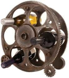 housewarming gifts for men - Gears Countertop Rack and Wine Bottle Holder