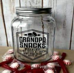 housewarming gifts for men - Grandpa Gift Funny Glass Snack Jar