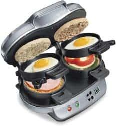 housewarming gifts for men - Hamilton Beach Dual Breakfast Sandwich Maker