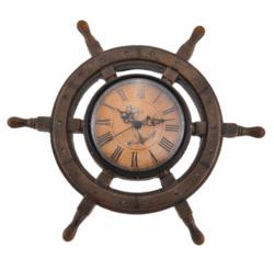 housewarming gifts for men - Master of Destiny Ship`s Wheel Nautical Wall Clock
