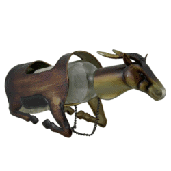 housewarming gifts for men - Metal Gazelle Single Bottle Holder Wine Display