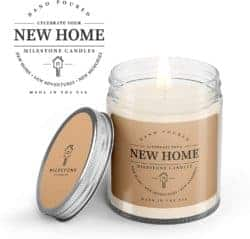 housewarming gifts for men - New Home Clear Jar Soy Blend Candle