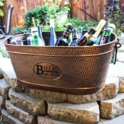 housewarming gifts for men - Personalized Copper Beverage Tub & Wine Bucket