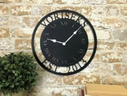 housewarming gifts for men - Personalized Metal Clock