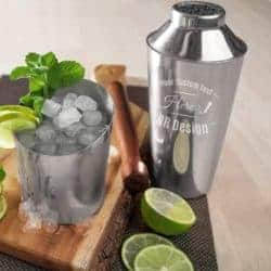 housewarming gifts for men - Personalized Stainless Steel 3-Piece Bar Shaker