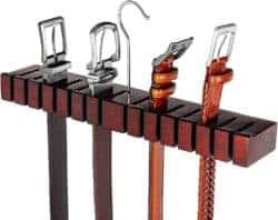 housewarming gifts for men - Solid Mahogany Belt Holder Hanger & Belt Rack Organizer