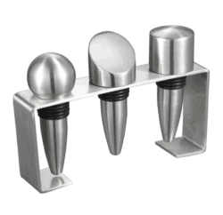 housewarming gifts for men - Stainless Steel Wine Stoppers