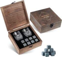 housewarming gifts for men - Whiskey Stones Gift Set