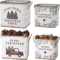 35. Christmas Tin Buckets (1)