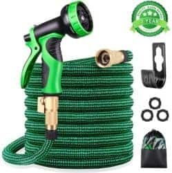 KURTVANA Expandable Garden Hose with 9 Function Nozzle