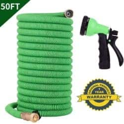 STAHONE 50ft Expandable Garden Hose with Double Latex Core