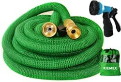 Best Lightweight Garden Hose - Riemex Expandable Garden Hose Green 50FT