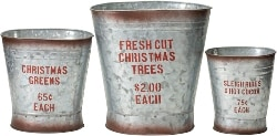 Galvanized Cans with Holiday Motiff (1)