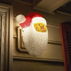 Plastic Outdoor Santa Face (1)