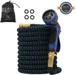 expandable garden hose - F Fellie Cover Upgraded 50ft Expandable Garden Hose