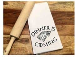 funny housewarming gifts for men - Game of Thrones, Dinner is Coming