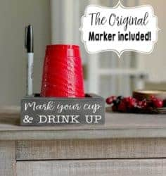 funny housewarming gifts for men - Solo Cup Holder with marker