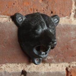 housewarming gifts for men - Bear Cast Iron Wall Mounted Beer Bottle Opener