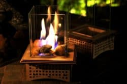 unique housewarming gifts for men - Tabletop Glass Fireplace