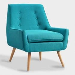 Best mid century modern living room - Turquoise Upholstered Armchair