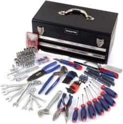 239-Piece Household Tool Set - 2-Drawers Heavy Duty Metal Box
