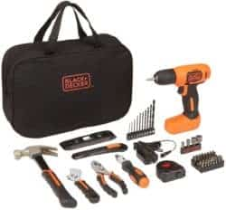 Best tool sets - BLACK+DECKER 8V Drill & Home Tool Kit
