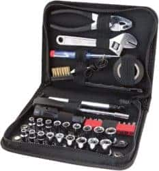 Compact Tool Set with Zipper Case