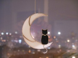 Black Cat on the Moon Hanging (1)