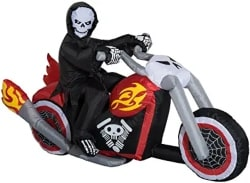 Inflatable Grim Reaper in Flaming Motorcycle
