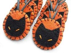 Orange and Black Cat Ornaments