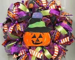 Pumpkin Wreath Door Hanger (1)