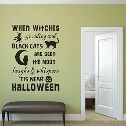 Spooky Witches and Cat Wall Decor