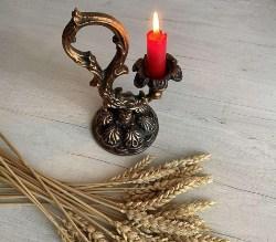Vintage Soviet Metal Candle Stick (1)