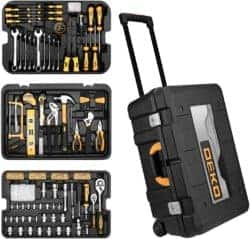 258 Piece Tool Kit with Rolling Tool Box