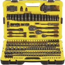 STANLEY Professional Grade Black Chrome NEW Mechanics Tool Set