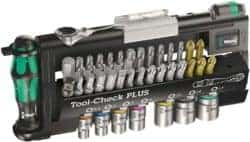 Tool-Check Plus Bit Ratchet Set with Sockets