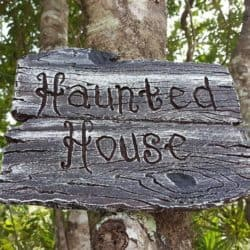 Halloween Sign Haunted House