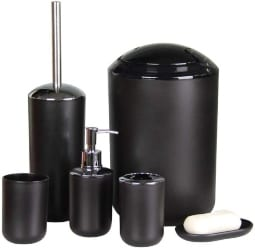 Black Bathroom Accessories Set (1)