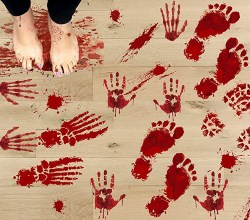 Bloody Footprints Stickers (1)
