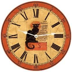 Vintage Halloween Decorations - Chat Noir Clock